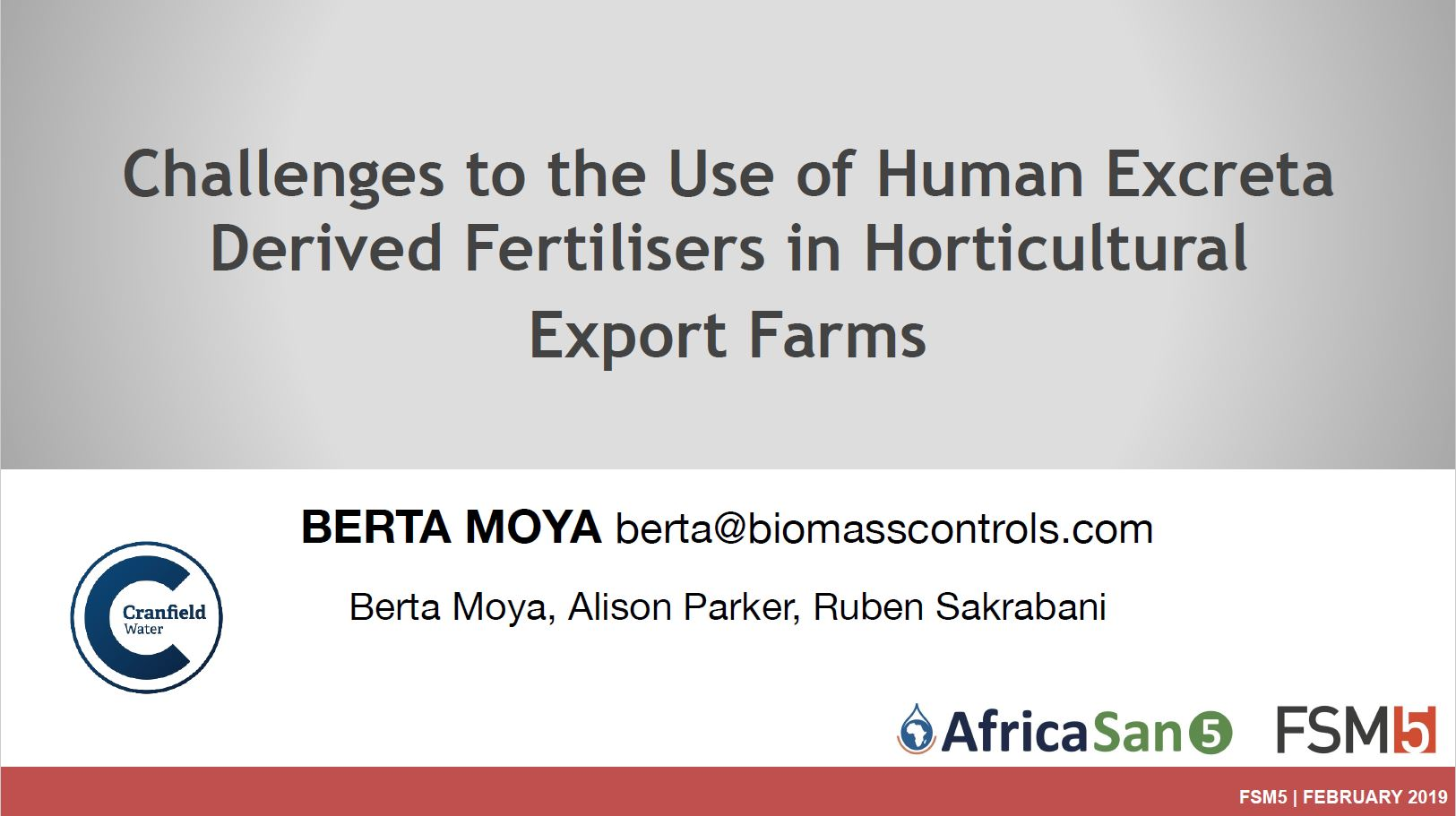 human extreta derived fertilisers