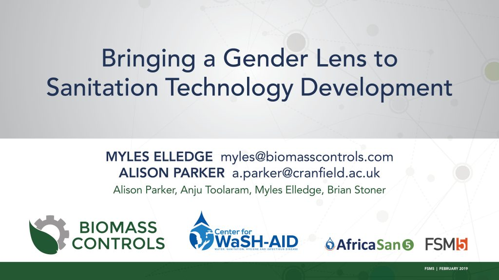 sanitation gender lens