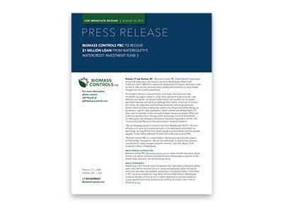 Biomass Press Release